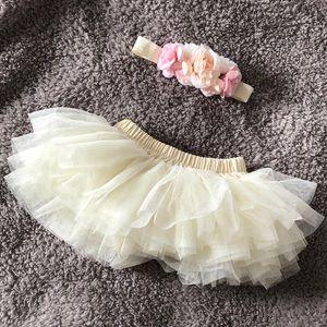 Other - Newborn tutu and bow set